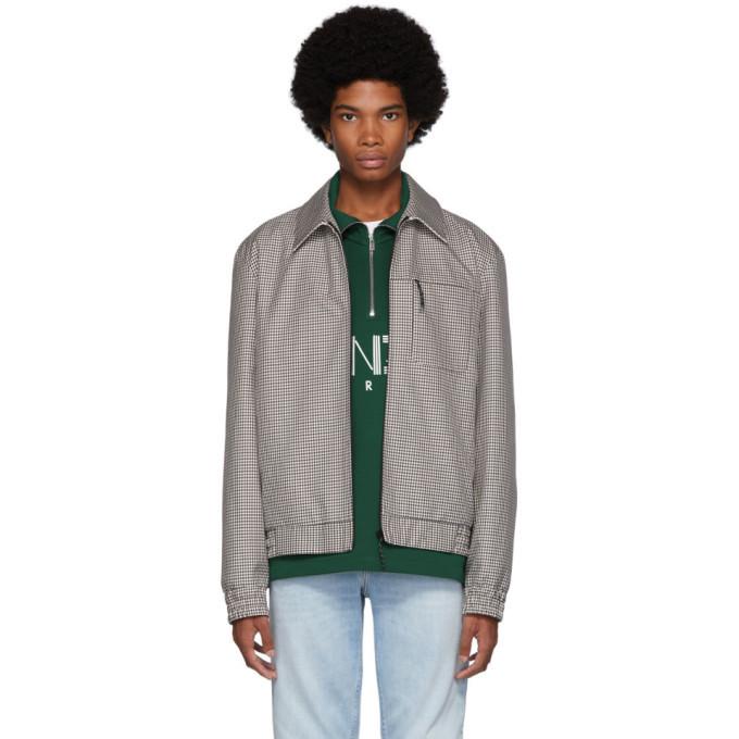 Photo: Kenzo Beige Check Tailored Blouson Jacket