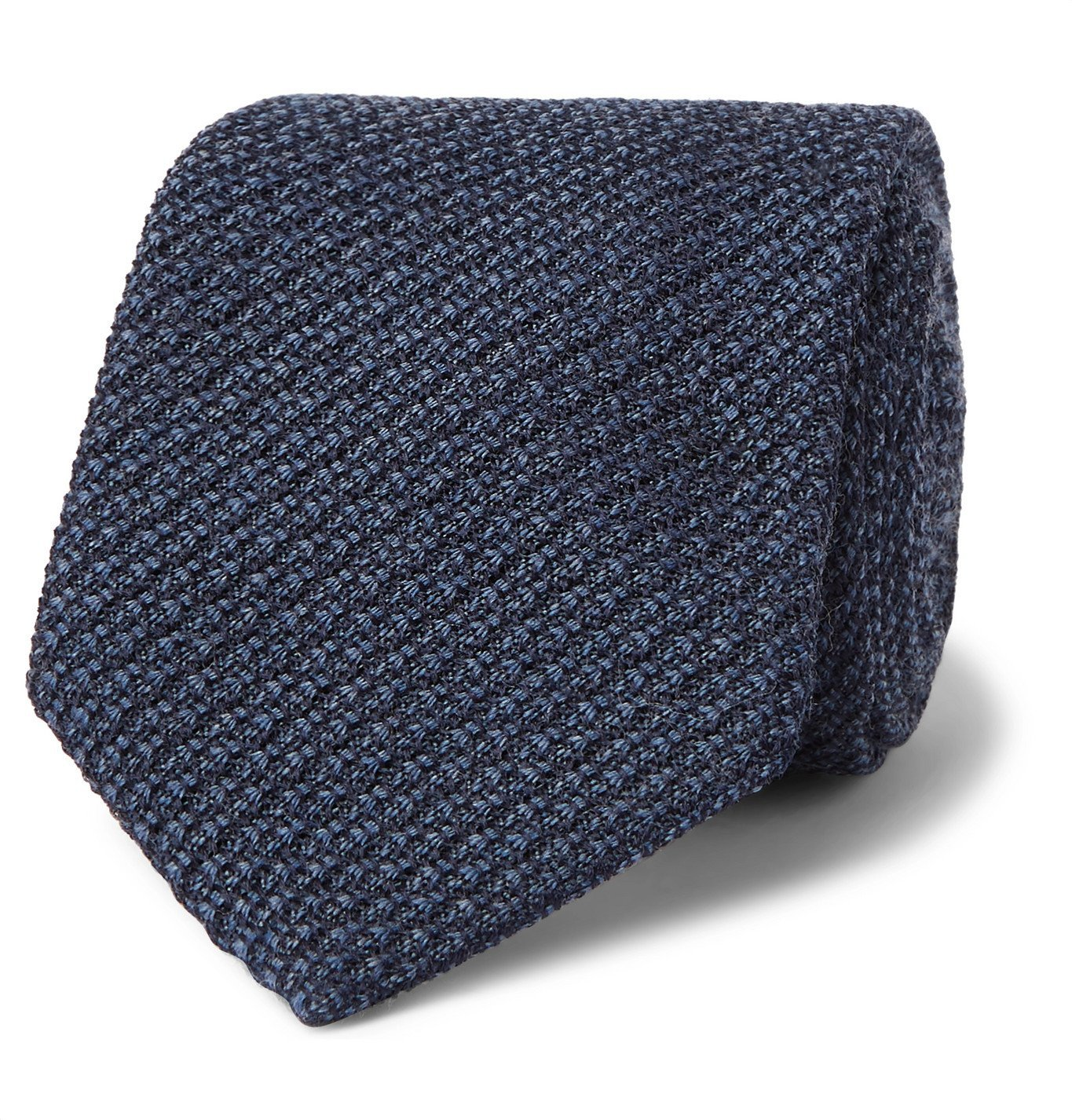 Canali - 8cm Textured Wool and Silk-Blend Tie - Blue