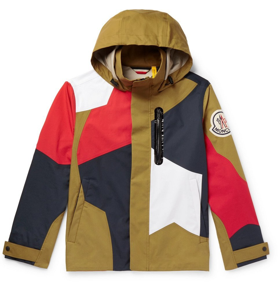 Photo: Moncler Genius - 2 Moncler 1952 Baudrier Panelled Cotton Hooded Jacket - Green