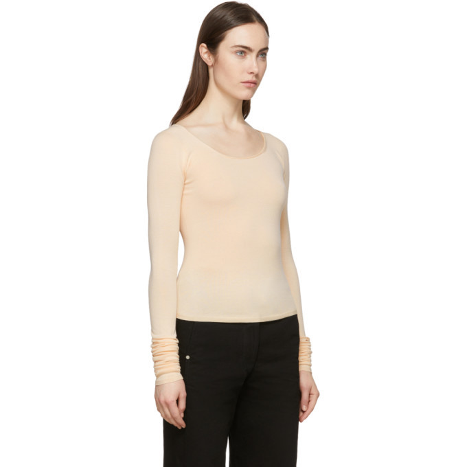 Lemaire Pink Second Skin Long Sleeve Pullover