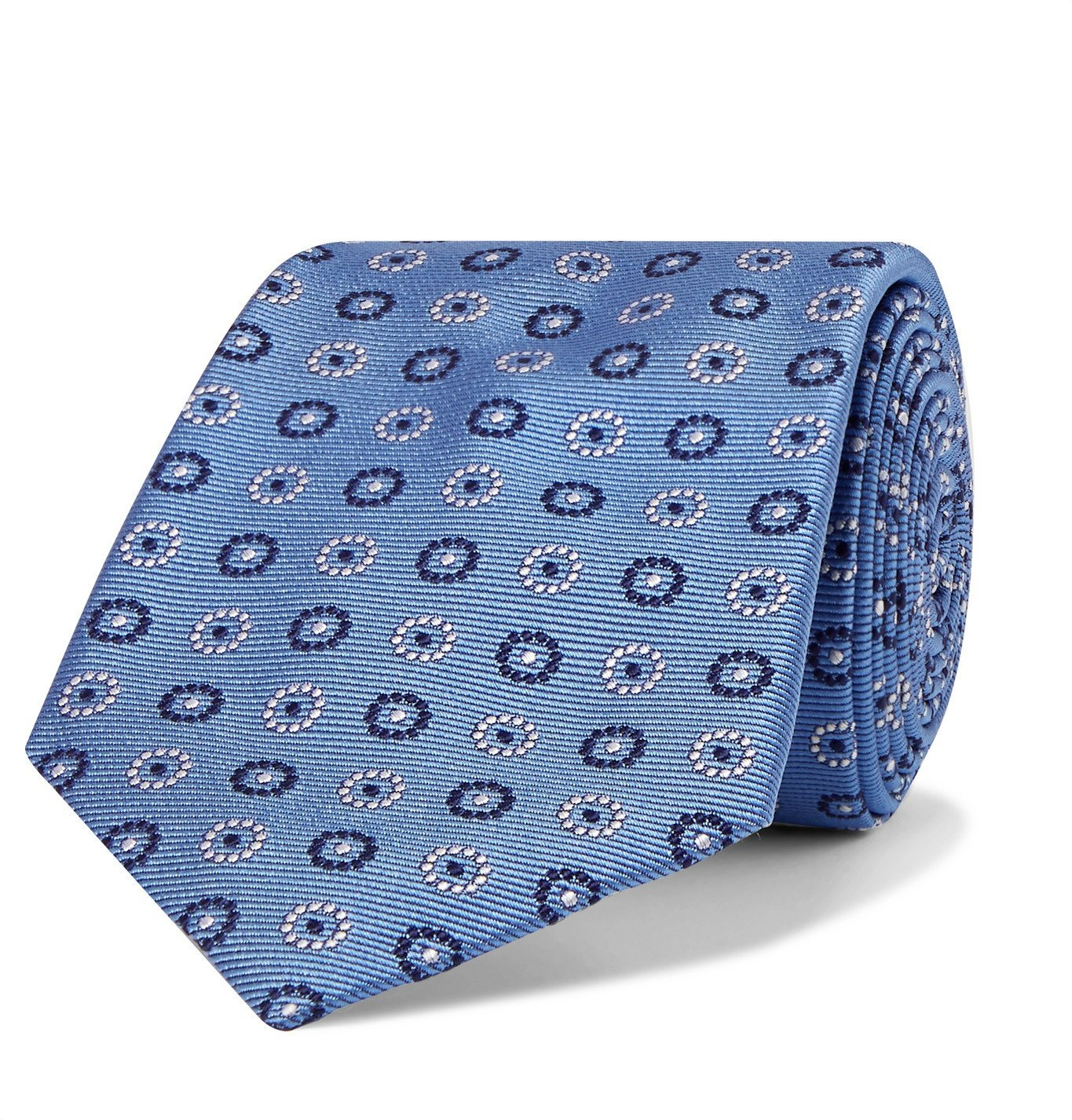Photo: Turnbull & Asser - 8cm Silk-Jacquard Tie - Blue
