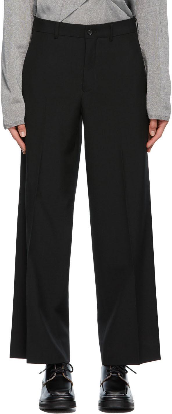 Photo: Comme des Garçons Homme Plus Black Wool Wide Trousers