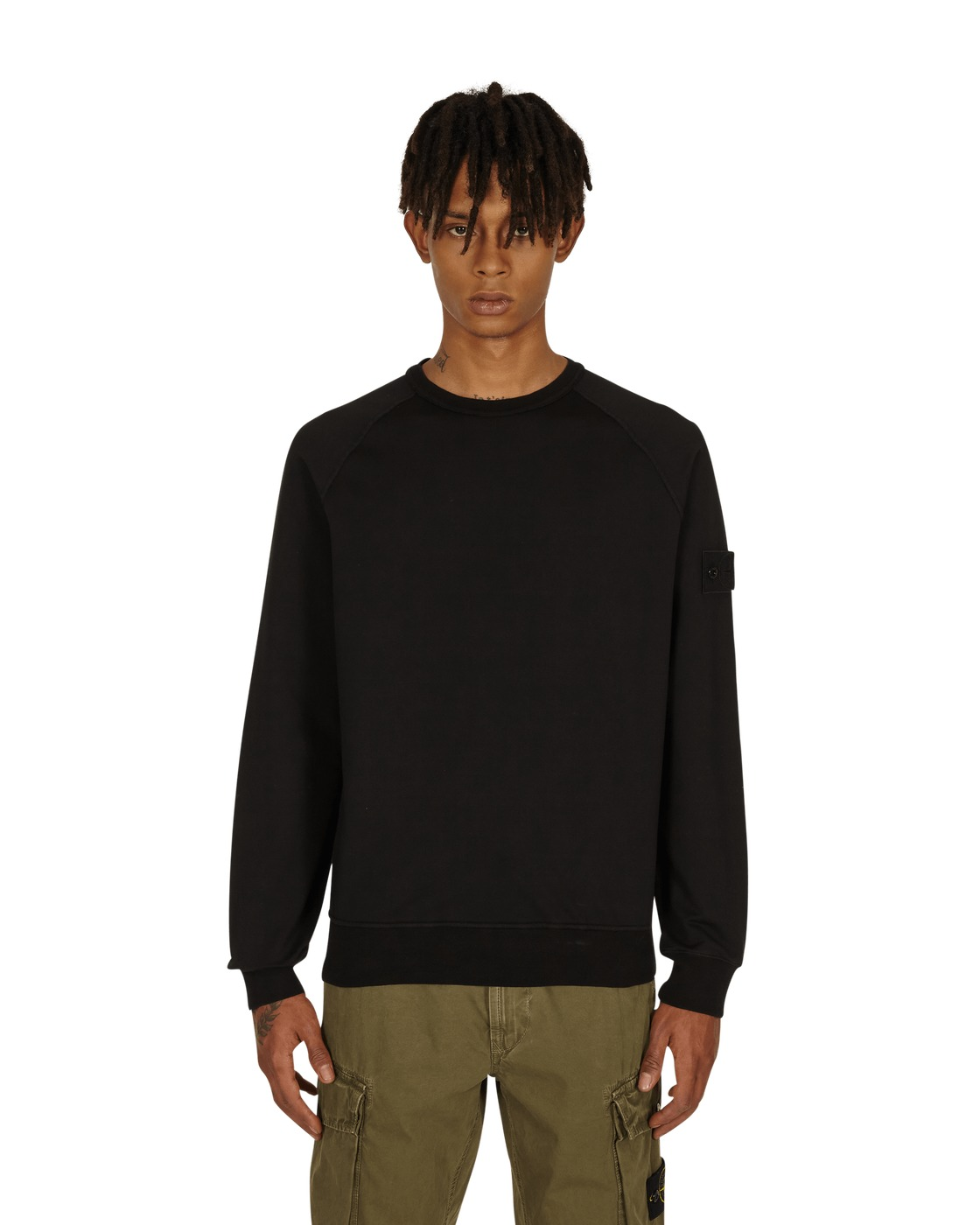 Stone Island Ghost Piece Crewneck Sweatshirt Black