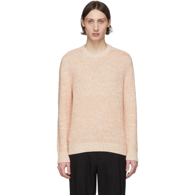 Photo: Salvatore Ferragamo Pink and Off-White Alpaca Sweater