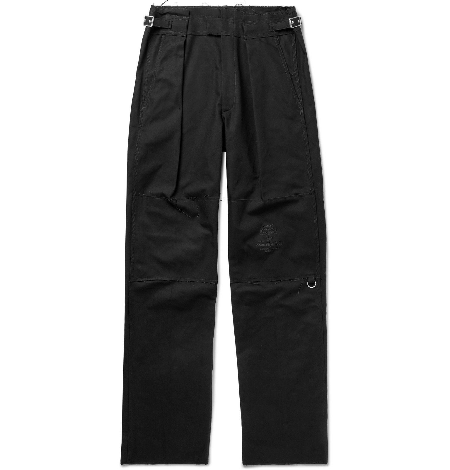 Raf Simons - Black Bootcut Embroidered Cotton-Twill Trousers - Black