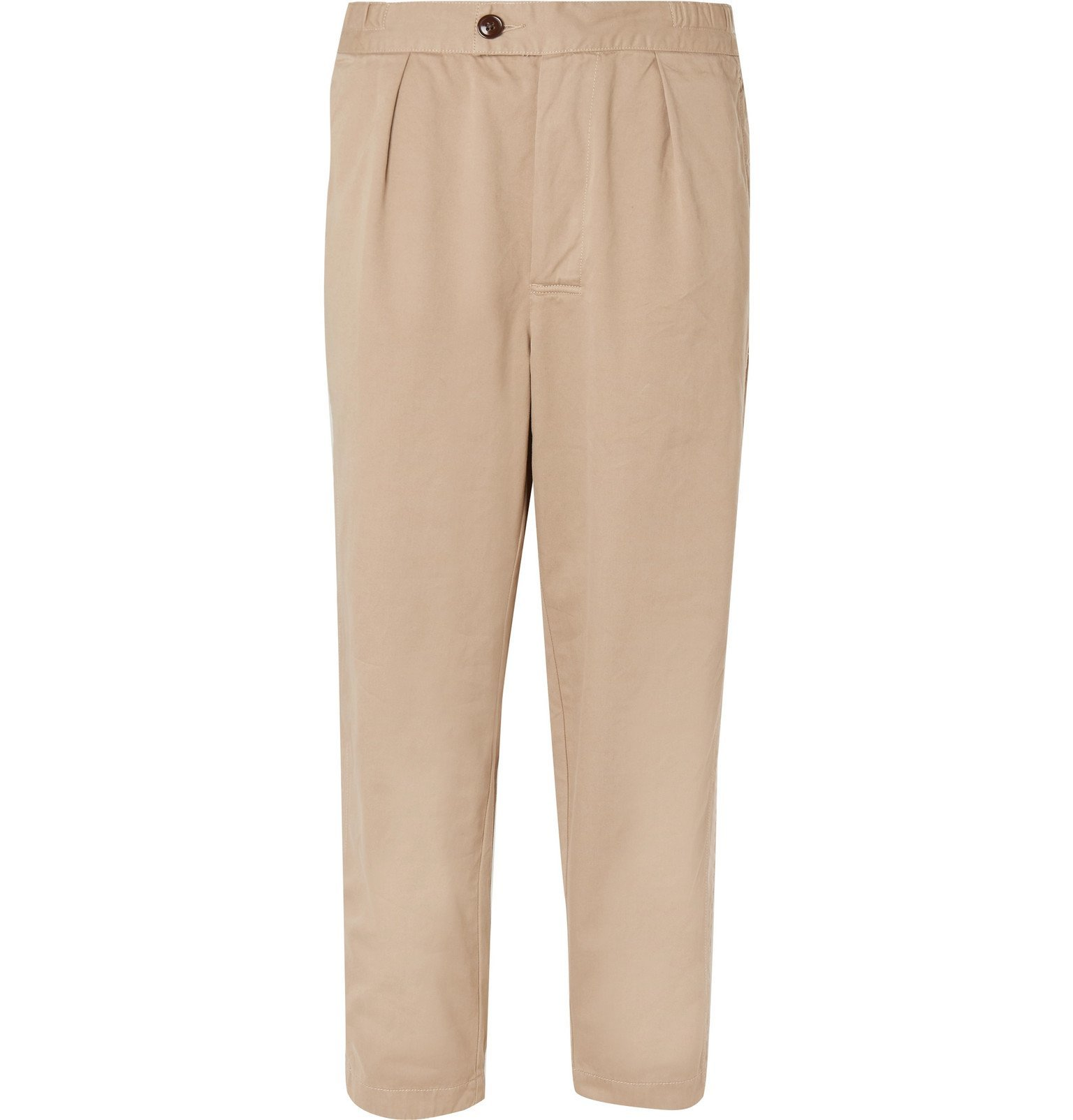 Photo: Barbour - White Label Tapered Cotton-Twill Drawstring Trousers - Neutrals