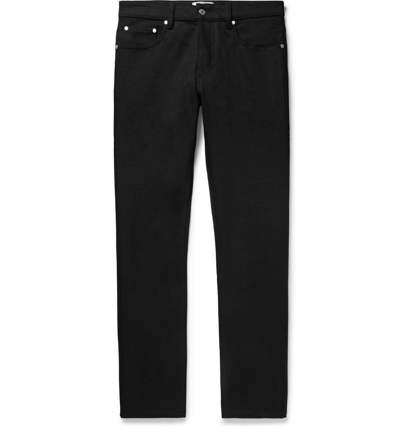 Photo: AMI - Slim-Fit Stretch-Denim Jeans - Black