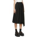 Sacai Black Pleated Side Closure Skirt