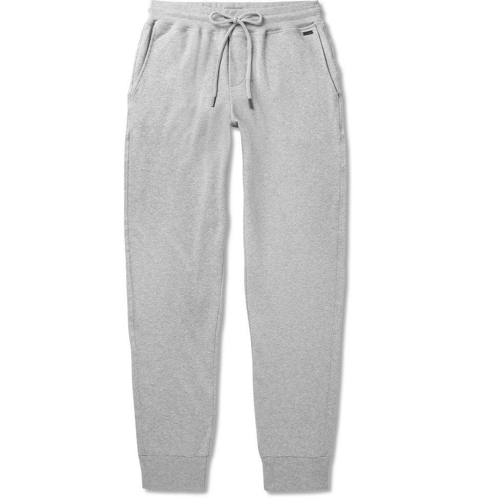 Hanro - Mélange Loopback Stretch-Cotton Jersey Sweatpants - Gray