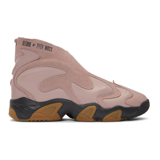 Photo: Reebok by Pyer Moss Pink and Tan Mobius Experiment Sneakers