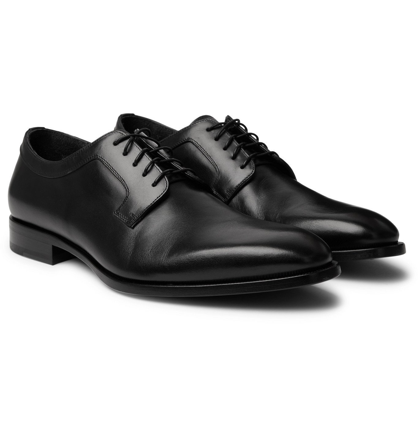 Dunhill - Leather Derby Shoes - Black