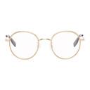 MCQ Gold Metal Round Glasses