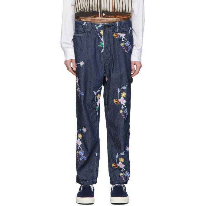 Photo: Engineered Garments Indigo Painter Jeans