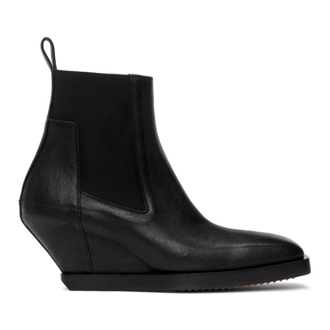 Photo: Rick Owens Black Elastic Sliver Boots