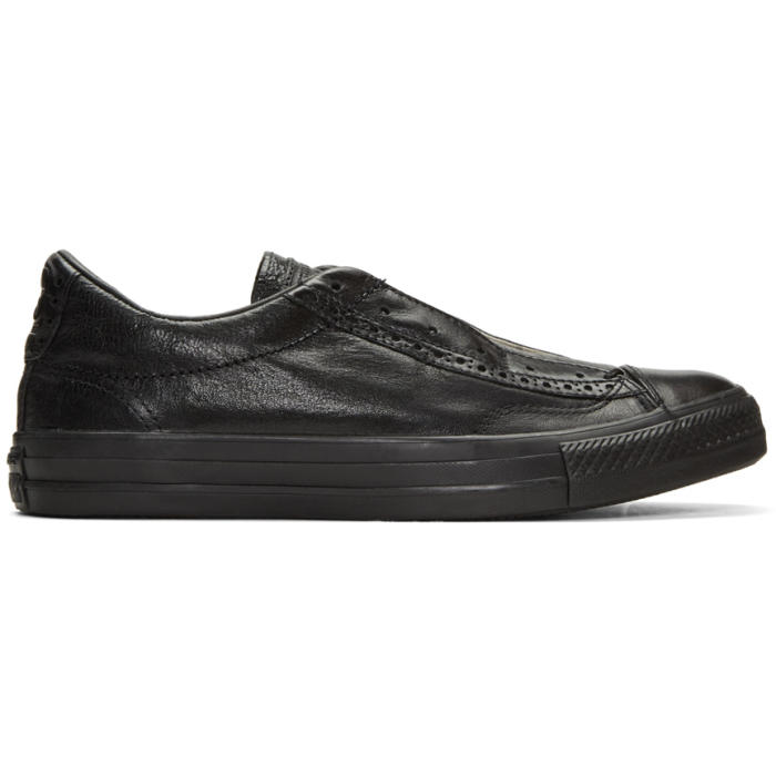 Photo: Converse by John Varvatos Black CTAS Slip Brogue Sneakers