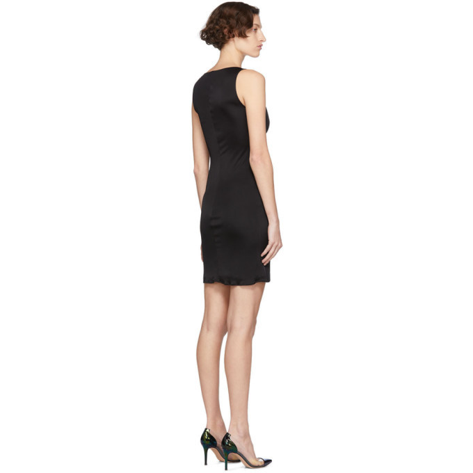 Versace Black Medusa Draped Dress