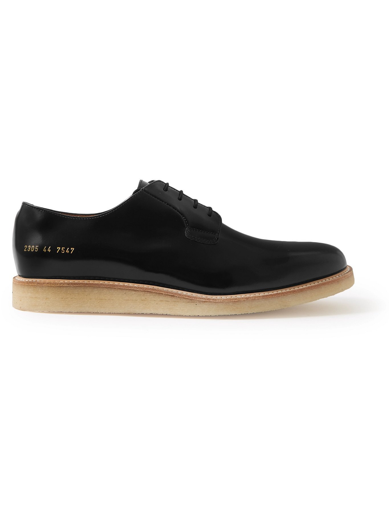 Photo: COMMON PROJECTS - Polished-Leather Derby Shoes - Black