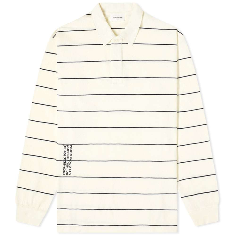 Photo: Wood Wood Beck Striped Rugby Shirt