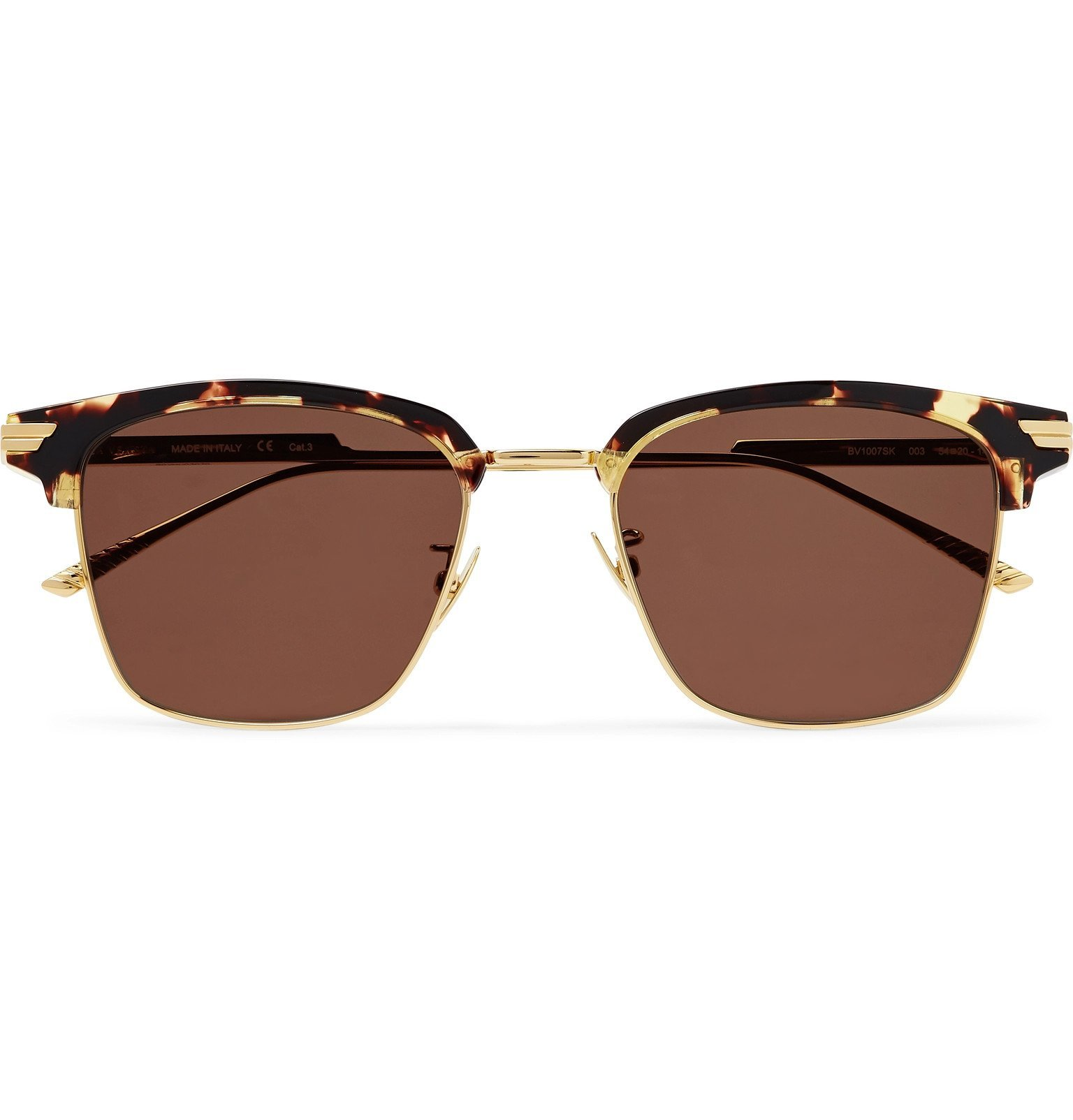 Photo: Bottega Veneta - D-Frame Gold-Tone and Tortoiseshell Acetate Sunglasses - Gold