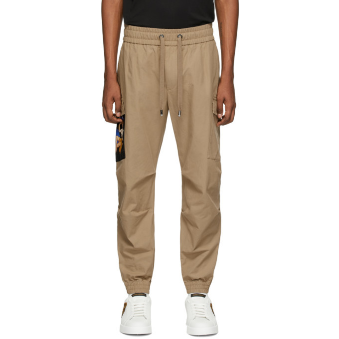 Photo: Dolce and Gabbana Beige Patch Cargo Pants