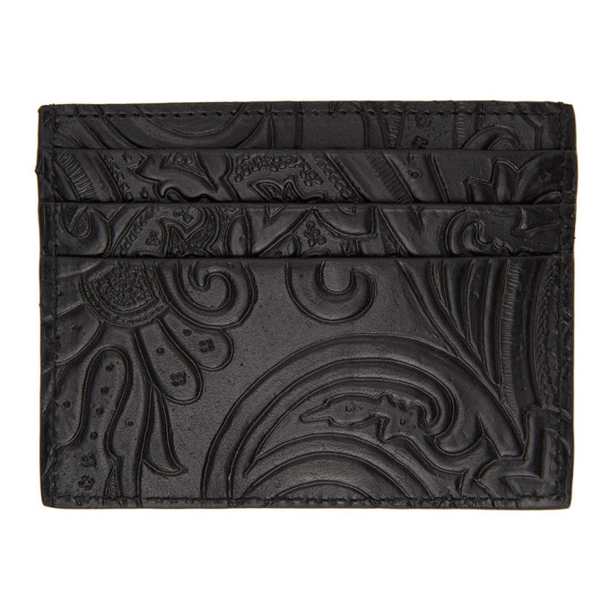 Photo: Etro Black Paisley Card Holder