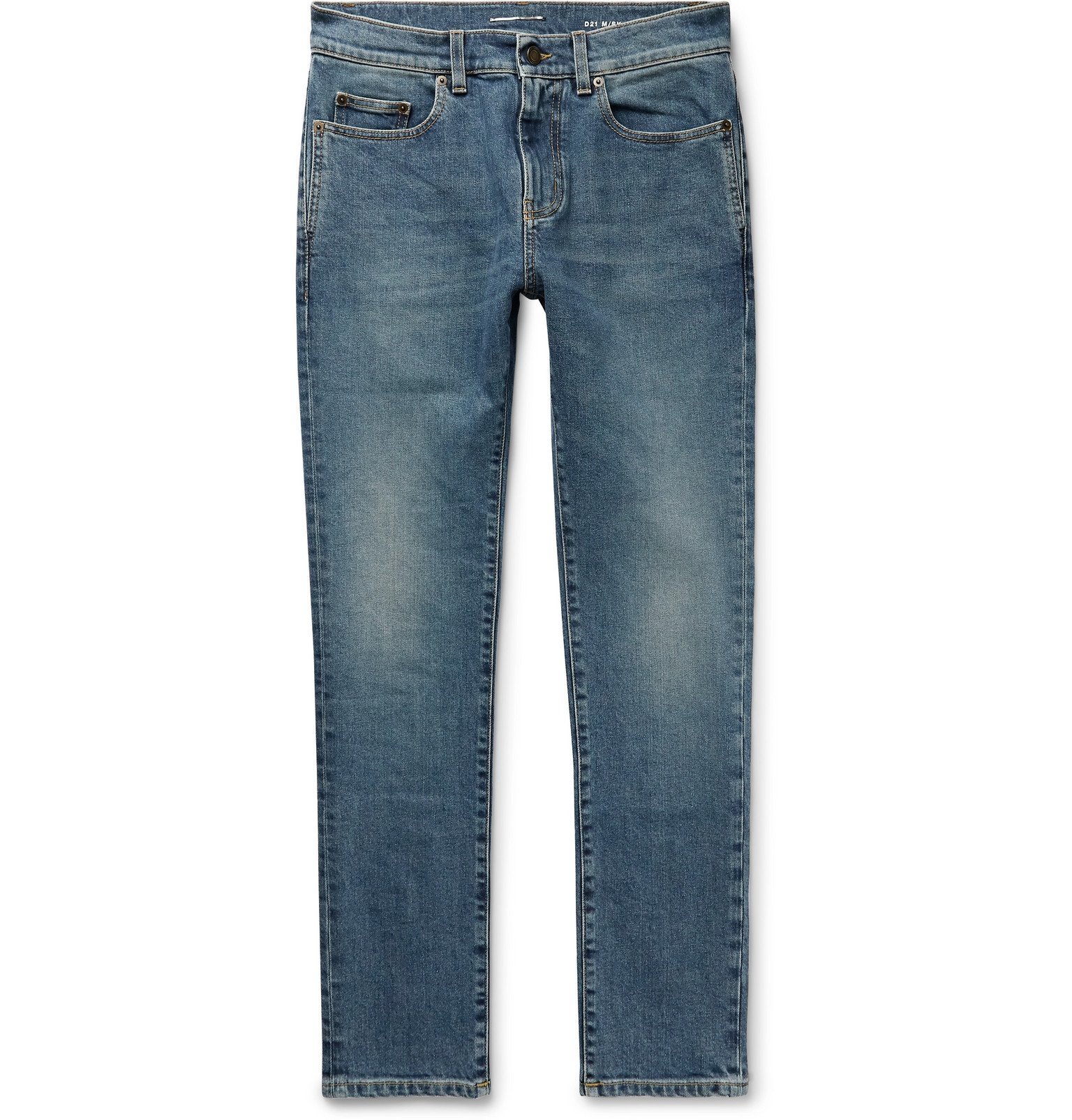 Photo: SAINT LAURENT - Skinny-Fit Denim Jeans - Blue