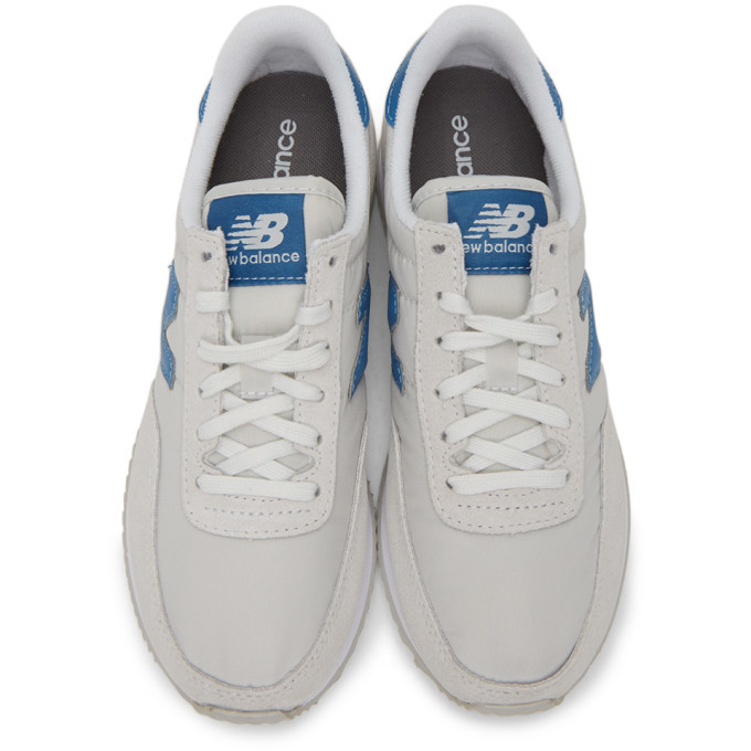 New Balance Grey and Blue 720 Sneakers