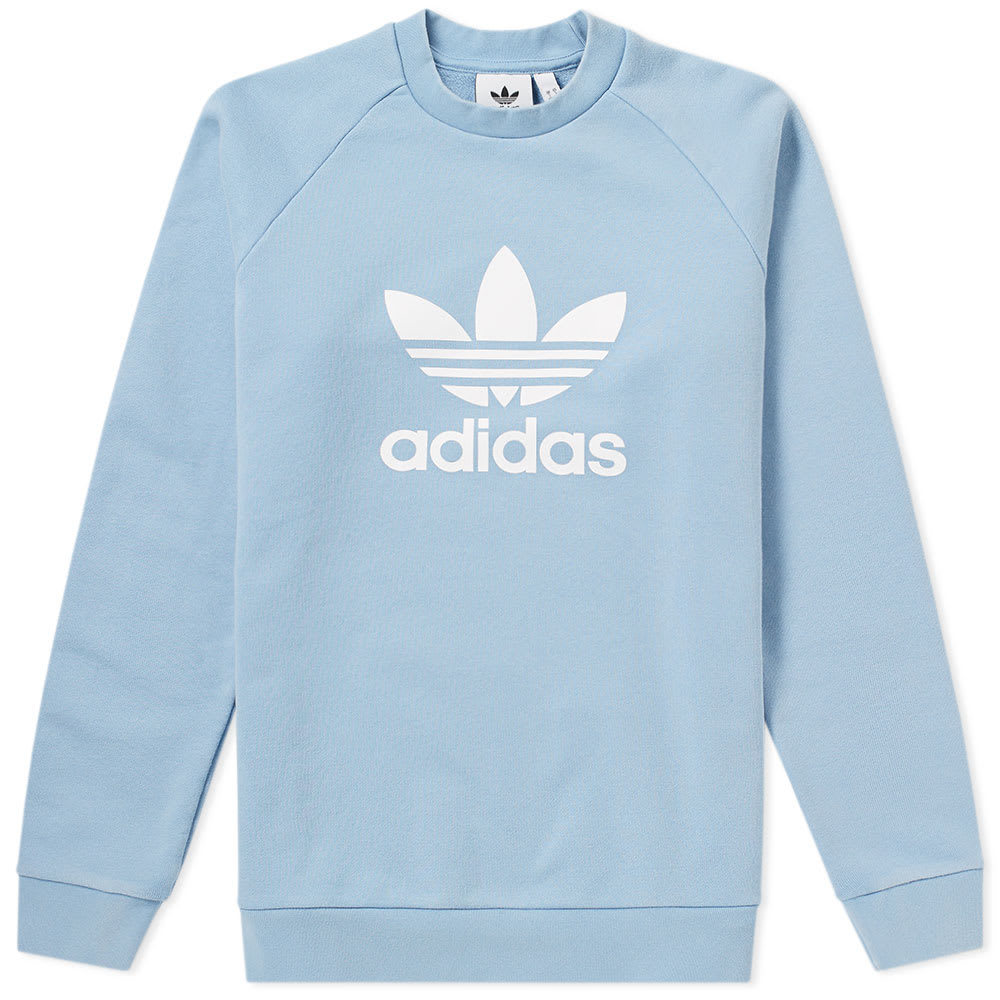 Photo: Adidas Trefoil Crew Sweat Blue