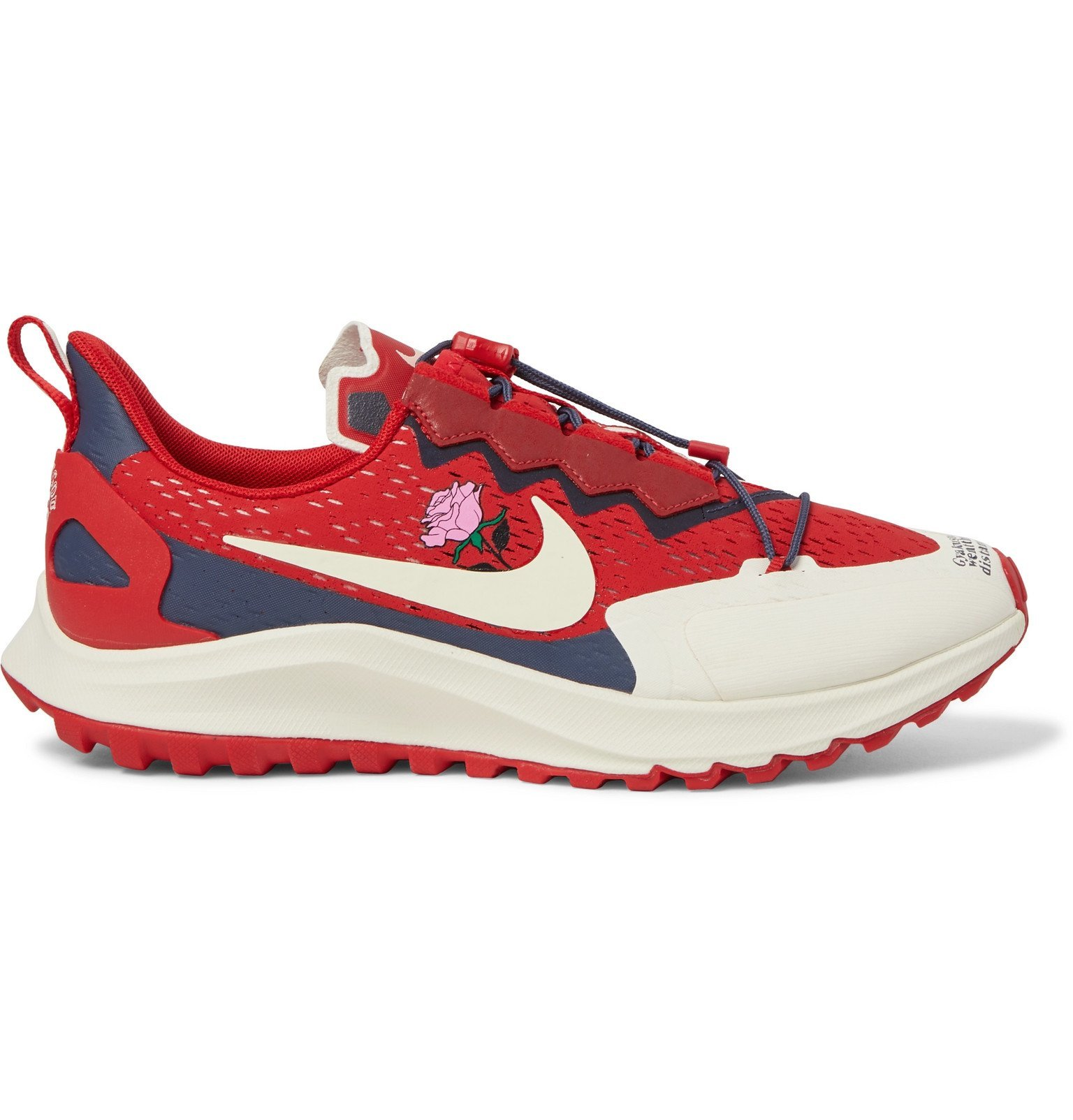 Photo: Nike x Undercover - Gyakusou Zoom Pegasus 36 Trail Suede-Trimmed Rubber and Mesh Running Sneakers - Red