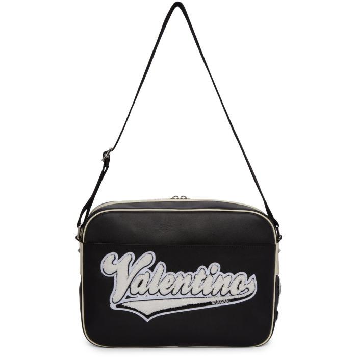 Photo: Valentino Black Valentino Garavani Varsity Messenger Bag