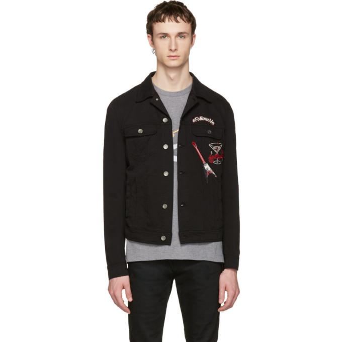Photo: Dolce and Gabbana Black Follow Me Denim Jacket
