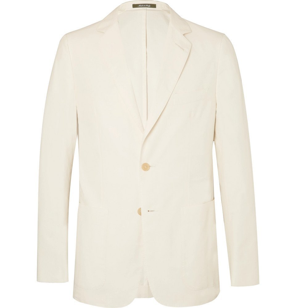 Dunhill - Cream Cotton, Mulberry Silk and Linen-Blend Blazer - Men - Cream