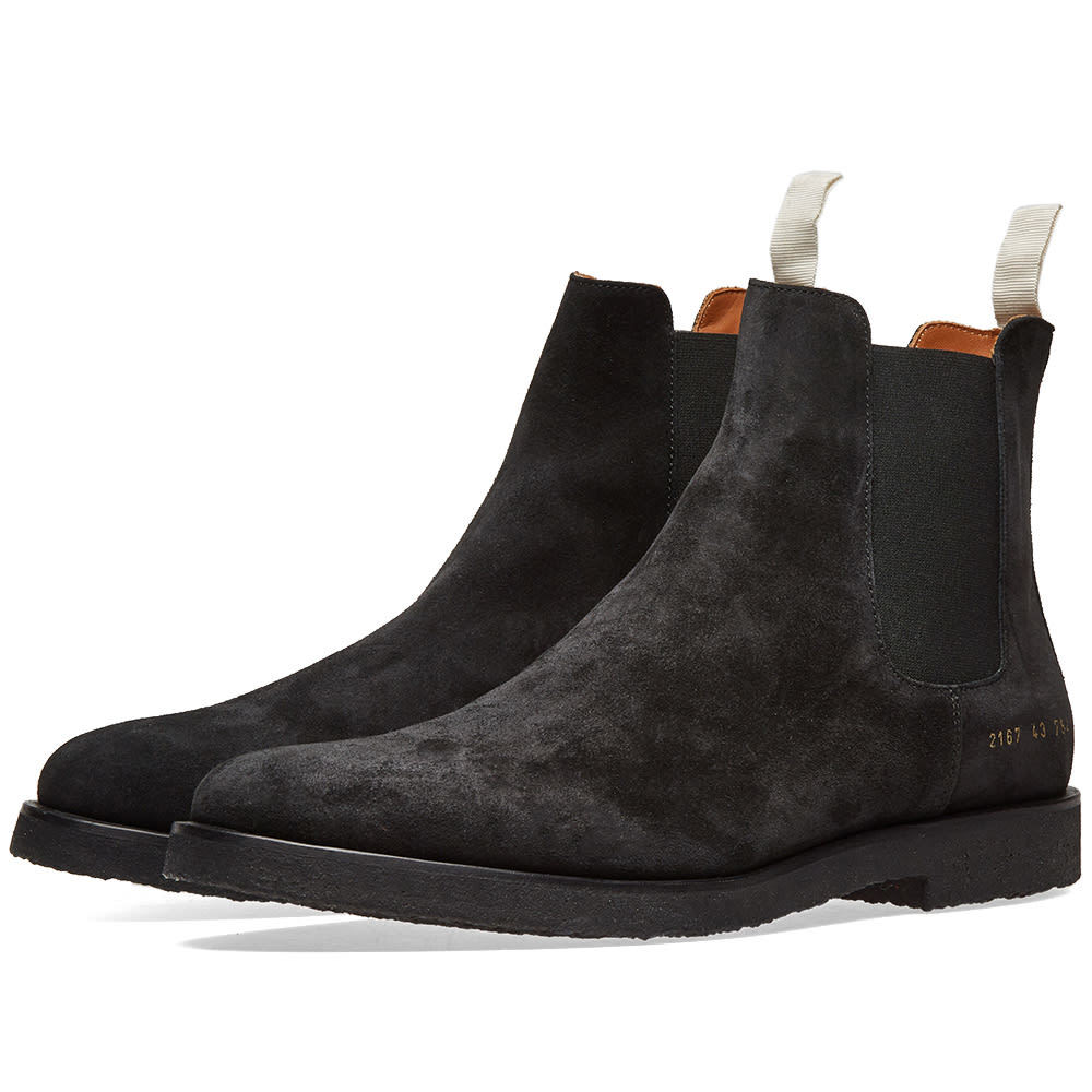 Photo: Common Projects Chelsea Boot Suede Black