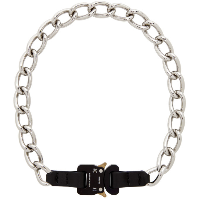 Photo: 1017 ALYX 9SM Silver Chain and Leather Buckle Necklace