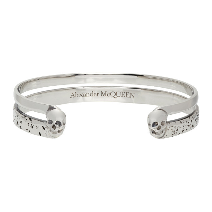 Photo: Alexander McQueen Silver Double Layer Bracelet