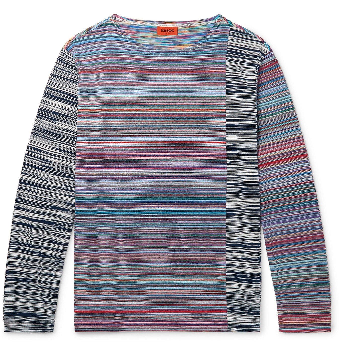 Photo: Missoni - Space-Dyed Cotton T-Shirt - Multi