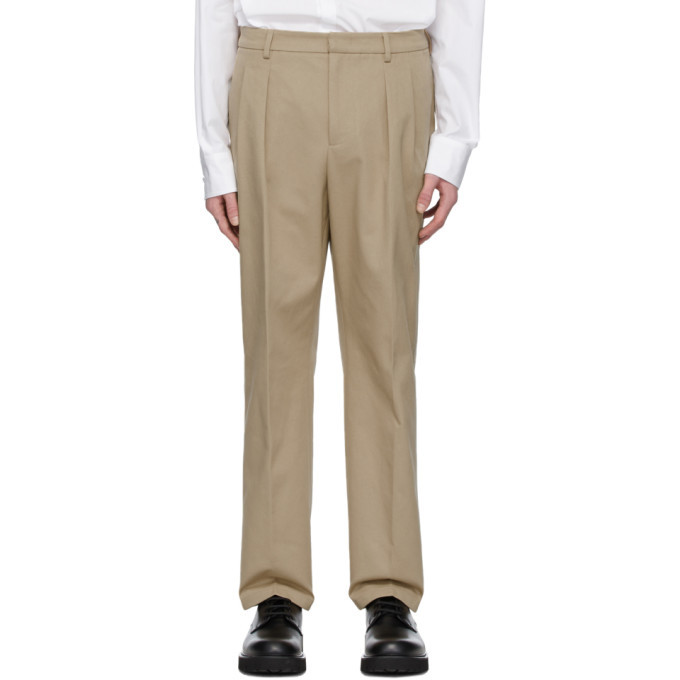 Photo: Valentino Beige Knit Seam Trousers