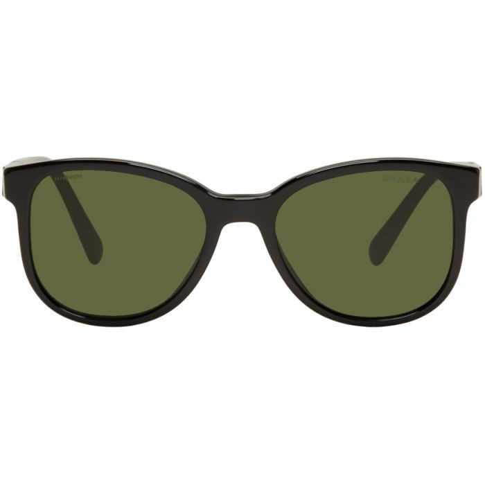 Photo: Prada Black Logo Plaque Sunglasses