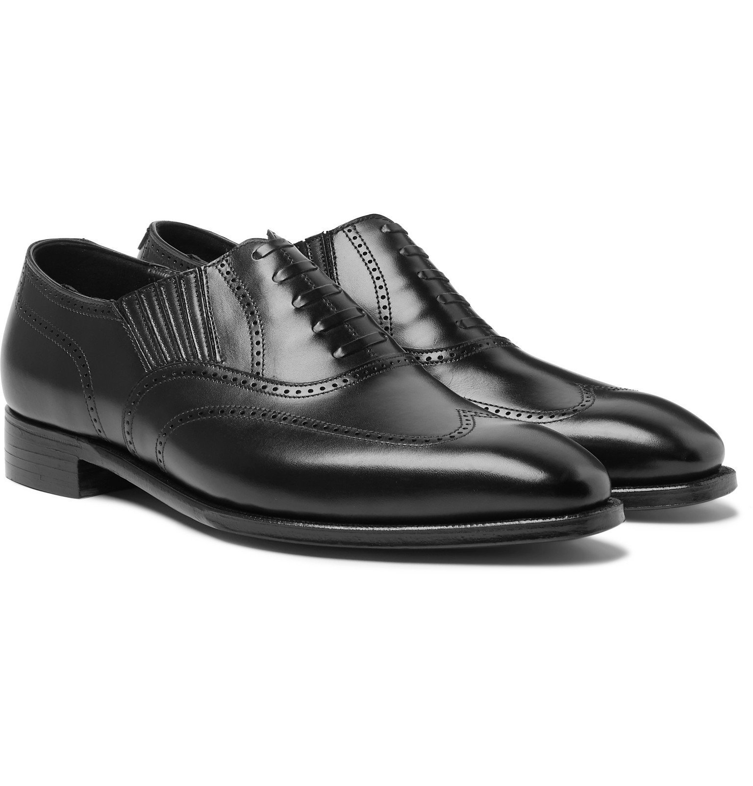 Photo: George Cleverley - Winston Leather Oxford Brogues - Black