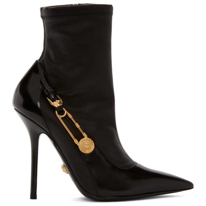 Photo: Versace Black Medusa Heeled Boots