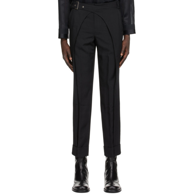Photo: Situationist SSENSE Exclusive Black Wool Double Arch Trousers