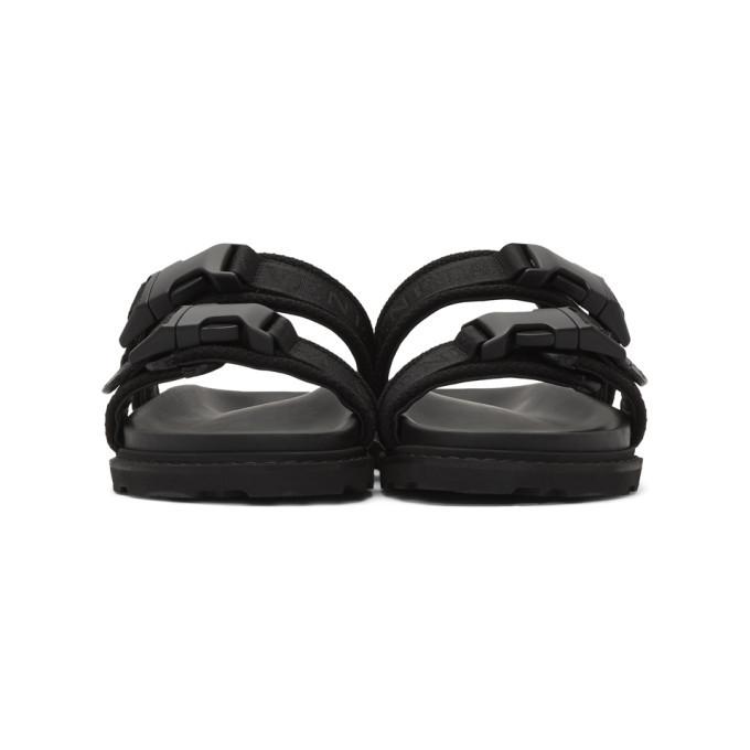 Bottega Veneta Black Logo Sandals