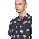 Ksubi Navy Chrome Rose Shirt