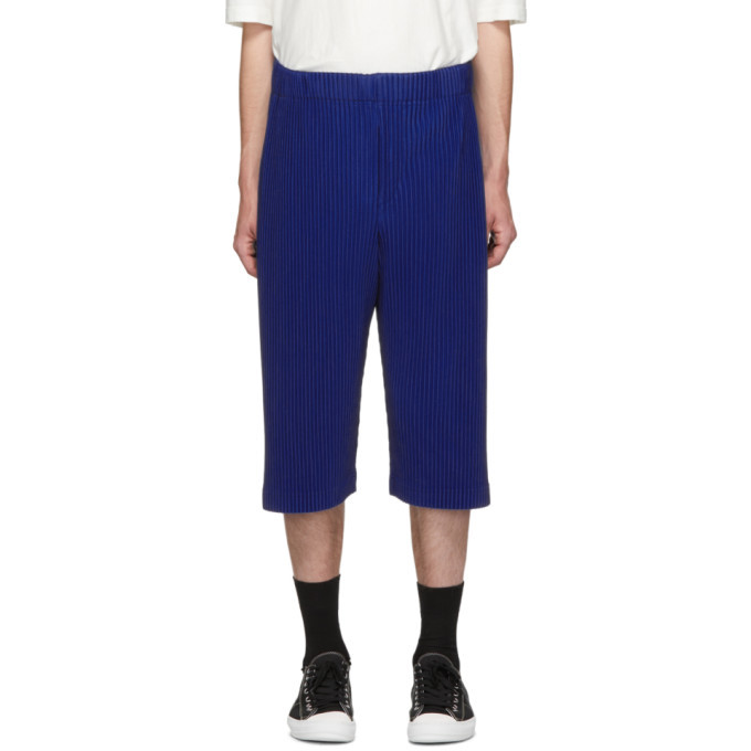 Photo: Homme Plisse Issey Miyake Blue Long Pleat Shorts