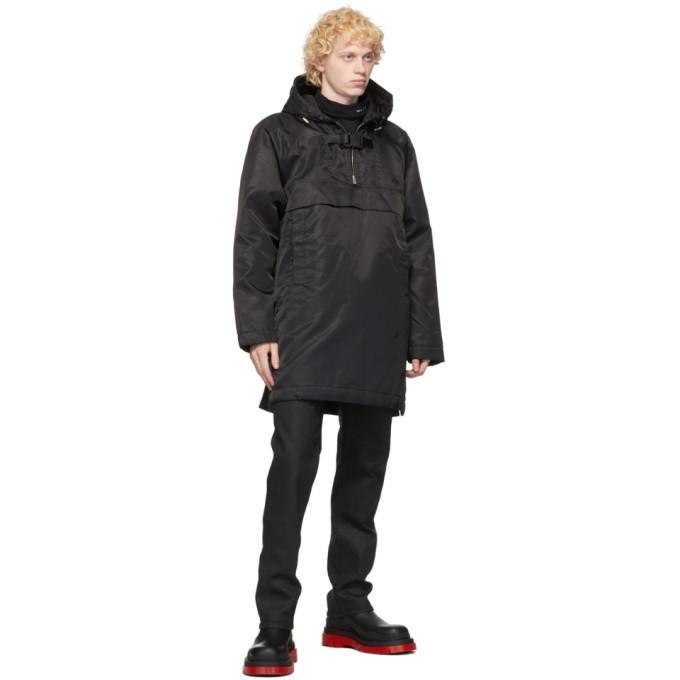 1017 ALYX 9SM Black Pullover Oversized Coat