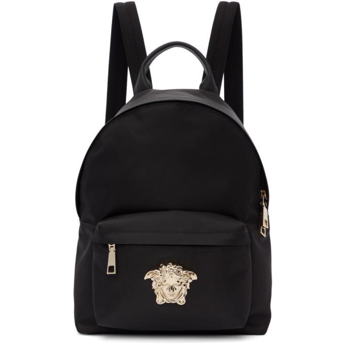 Photo: Versace Black Nylon Medusa Backpack
