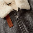 Acne Studios - Shearling-Lined Textured-Leather Jacket - Men - Dark brown