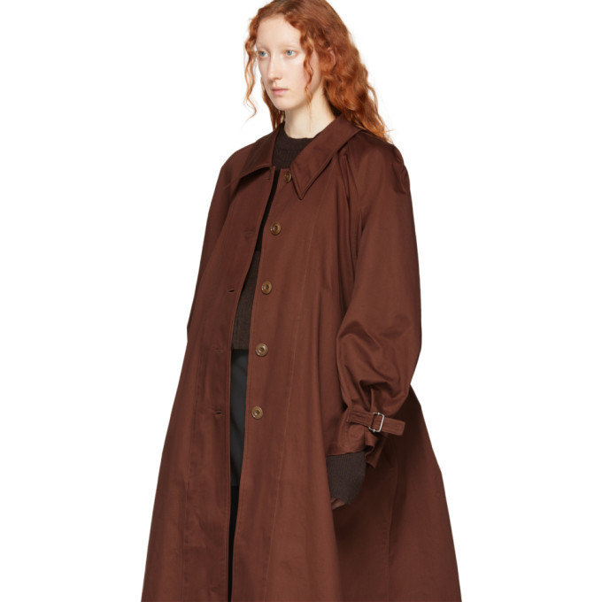 Lemaire Brown Cotton Overcoat