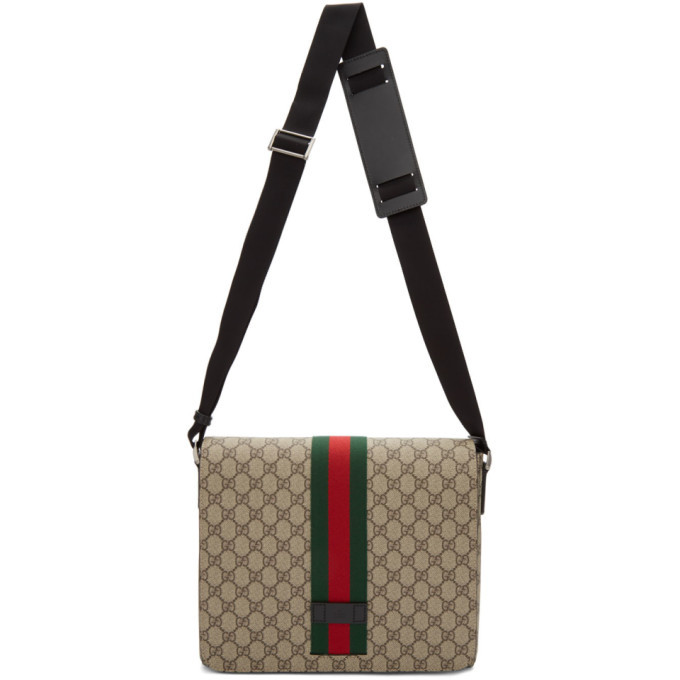 Photo: Gucci Beige GG Supreme Messenger Bag