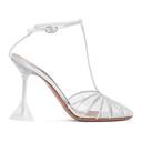 Amina Muaddi Transparent Byrgit T-Pump Heels